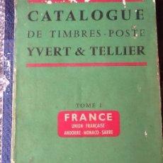 Sellos: CATALOGO YVERT ET TELLIER 1959 TOMO 1. Lote 173465039