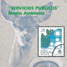 Sellos: CORREOS 1993. FOLLETO DIPTICO INFORMACION Nº 1/93 - SERVICIOS PUBLICOS. MEDIO AMBIENTE. Lote 173515470