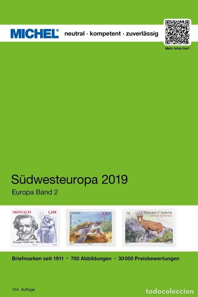 MICHEL, CATÁLOGO DE PAÍSES EUROPA SUDOESTE. 2019 (EK2). (Filatelia - Sellos - Catálogos y Libros)