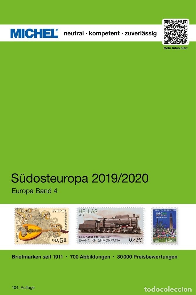 MICHEL, CATÁLOGO DE PAÍSES DEL SUDESTE DE EUROPA. EDICIÓN 2019 (Filatelia - Sellos - Catálogos y Libros)