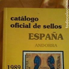 Sellos: CATÁLOGO OFICIAL SELLOS CORREOS 1989. Lote 176429542