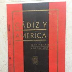 Sellos: CÁDIZ Y AMÉRICA.REVISTA FILATÉLICA Y DE TURISMO.AÑO II. Nº 12.AGOSTO 1938. Lote 177197830