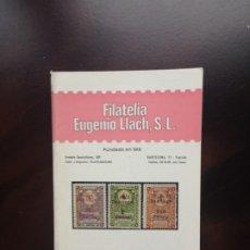 Sellos: CATÁLOGO - FILATELIA EUGENIO LLACH, S.L - SEGUNDA QUINCENA AGOSTO DE 1973. Lote 177416108