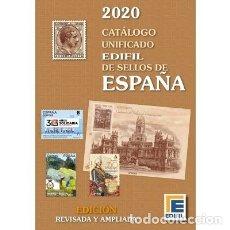 Sellos: CATÁLOGO EDIFIL DE SELLOS DE ESPAÑA ( DE 1850 A HOY). EDICIÓN 2020. A COLOR.. Lote 187537442