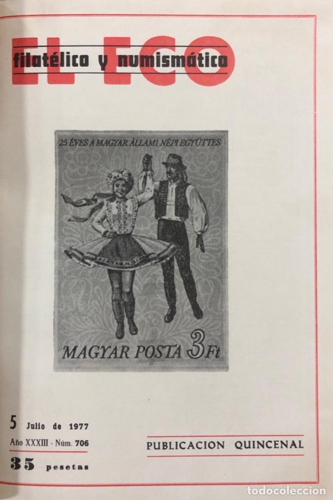 Sellos: EL ECO FILATELICO Y NUMISMATICO. EL TOMO INCLUYE DEL Nº 682 AL 693. AÑO XXXIII. NAVARRA, 1976. VER - Foto 5 - 177573170