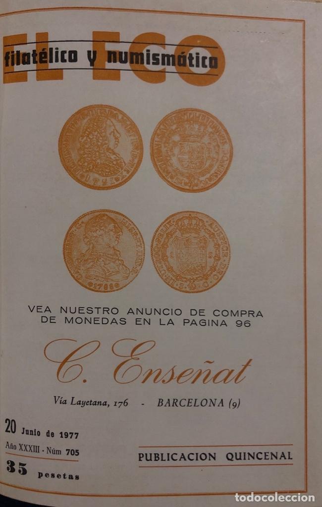 Sellos: EL ECO FILATELICO Y NUMISMATICO. EL TOMO INCLUYE DEL Nº 682 AL 693. AÑO XXXIII. NAVARRA, 1976. VER - Foto 6 - 177573170