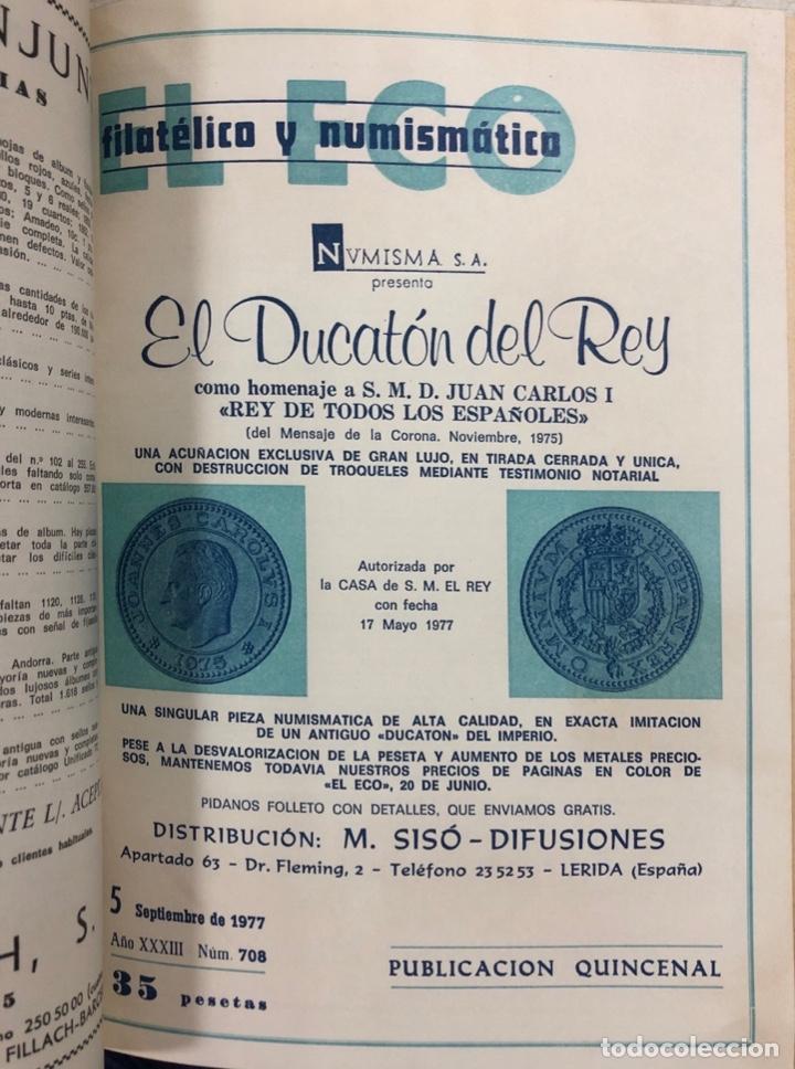 Sellos: EL ECO FILATELICO Y NUMISMATICO. EL TOMO INCLUYE DEL Nº 682 AL 693. AÑO XXXIII. NAVARRA, 1976. VER - Foto 8 - 177573170