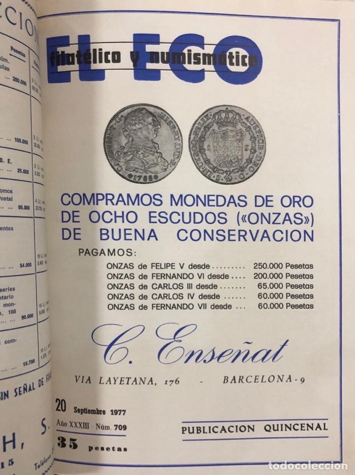 Sellos: EL ECO FILATELICO Y NUMISMATICO. EL TOMO INCLUYE DEL Nº 682 AL 693. AÑO XXXIII. NAVARRA, 1976. VER - Foto 9 - 177573170
