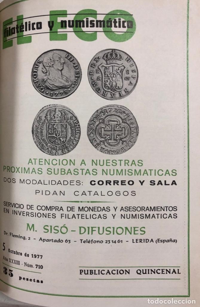 Sellos: EL ECO FILATELICO Y NUMISMATICO. EL TOMO INCLUYE DEL Nº 682 AL 693. AÑO XXXIII. NAVARRA, 1976. VER - Foto 10 - 177573170