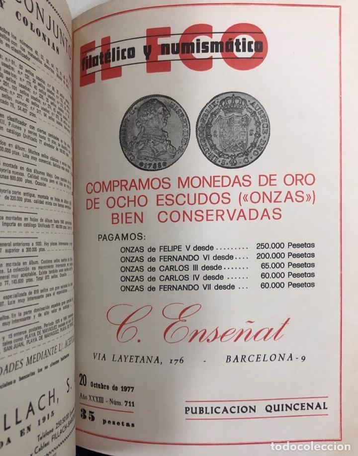 Sellos: EL ECO FILATELICO Y NUMISMATICO. EL TOMO INCLUYE DEL Nº 682 AL 693. AÑO XXXIII. NAVARRA, 1976. VER - Foto 11 - 177573170