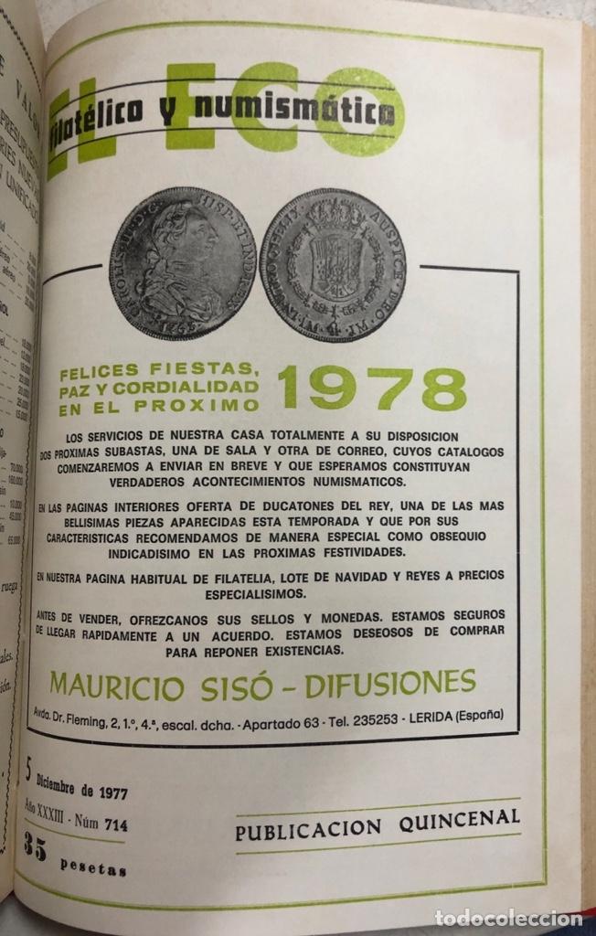 Sellos: EL ECO FILATELICO Y NUMISMATICO. EL TOMO INCLUYE DEL Nº 682 AL 693. AÑO XXXIII. NAVARRA, 1976. VER - Foto 14 - 177573170