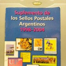 Sellos: SUPLEMENTO DE CATALOGO DE SELLOS DE ARGENTINA 1998-2004. SELLOS Y ENTEROS POSTALES.. Lote 177739989