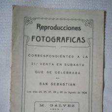 Sellos: CATÁLOGO SUBASTA SELLOS 1926. Lote 178360936