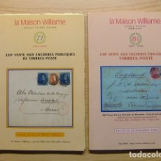 Sellos: CATALOGO DE SUBASTA DE SELLOS - LA MAISON WILLIAME . Lote 178383016