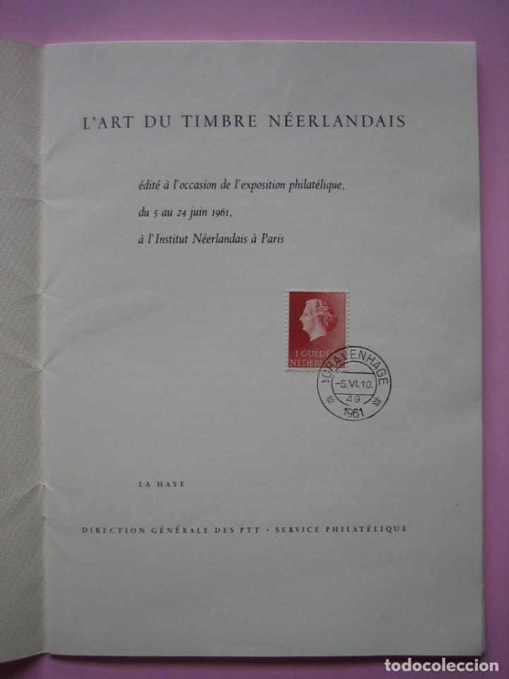 Sellos: FILATELIA - LIBRO FOLLETO - EL ARTE DEL SELLO HOLANDES - AÑO 1961 - RARO CONJUNTO - VER DESCRIPCIÓN - Foto 2 - 178690720
