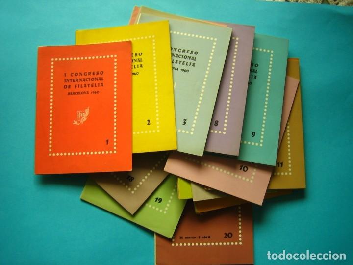 CIF 60 - I CONGRESO INTERNACIONAL FILATELIA BARCELONA 1960 CONJUNTO 18 BOLETINES NUMERADOS MUY RAROS (Filatelia - Sellos - Catálogos y Libros)