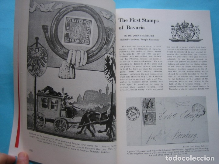 Sellos: MUSEO FILATELICO NACIONAL DE FILADELFIA Nº 3 1952 MONOGRAFICO HISTORIA CORREO ALEMANIA 175 p. FOTOS - Foto 12 - 178687292