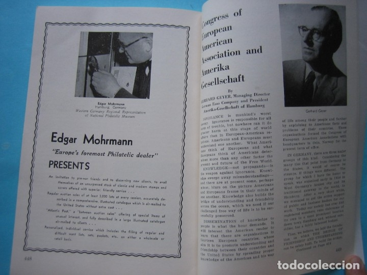 Sellos: MUSEO FILATELICO NACIONAL DE FILADELFIA Nº 3 1952 MONOGRAFICO HISTORIA CORREO ALEMANIA 175 p. FOTOS - Foto 24 - 178687292