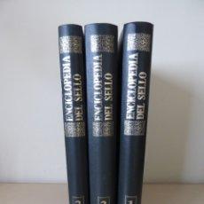 Sellos: ENCICLOPEDIA DEL SELLO (COMPLETA, 3 VOLÚMENES, 1.400 PÁGINAS). EDICIONES SARPE, 1975. Lote 179178163