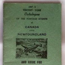 Sellos: CATALOGO DE SELLOS. CANADA Y NEWFOUNLAND EL ENVIO ESTA INCLUIDO.. Lote 179323030