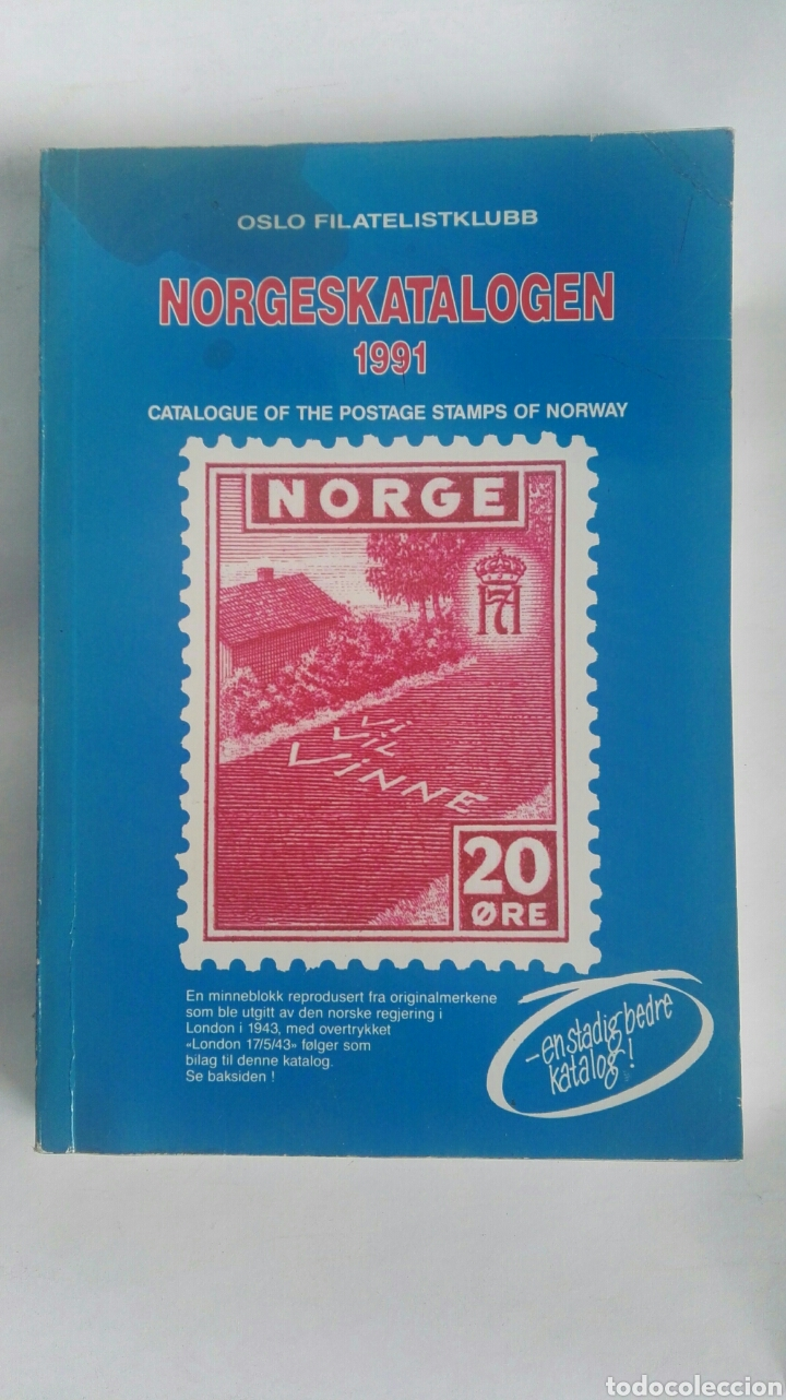 Sellos: Catalogue of the postage stamps of Norway 1991 norgeskatalogen - Foto 1 - 180042993