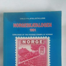 Sellos: CATALOGUE OF THE POSTAGE STAMPS OF NORWAY 1991 NORGESKATALOGEN. Lote 180042993