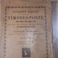 Sellos: CATALOGI DE SELLOS DEL MUNDO AÑOS 1840-1894 EDITADO DEL AÑO 1895 MUY USADO 22×14×2CMS. 350 PAGINAS. Lote 180137995
