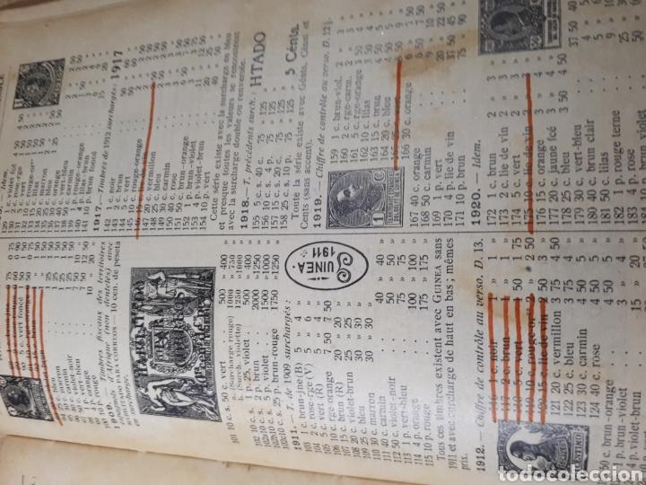 Sellos: CATALIGO YVERT AÑO 1931 ALGUNAS PAGINAS SUBRAYADAS 1231 PAGINAS 14X19X5 CMS. - Foto 4 - 180138290
