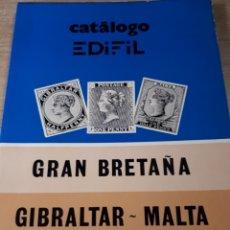 Francobolli: CATALOGO EDIFIL GRAN BRETAÑA GIBRALTAR MALTA AÑO 1980 15X21X1 CM. 146 PAGINAS.. Lote 180138635