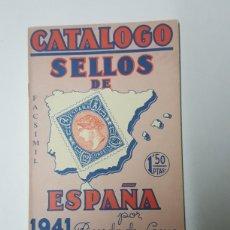 Francobolli: CATALOGO SELLOS RICARDO DE LAMA AÑO 1941 FACSIMIL. Lote 180204716