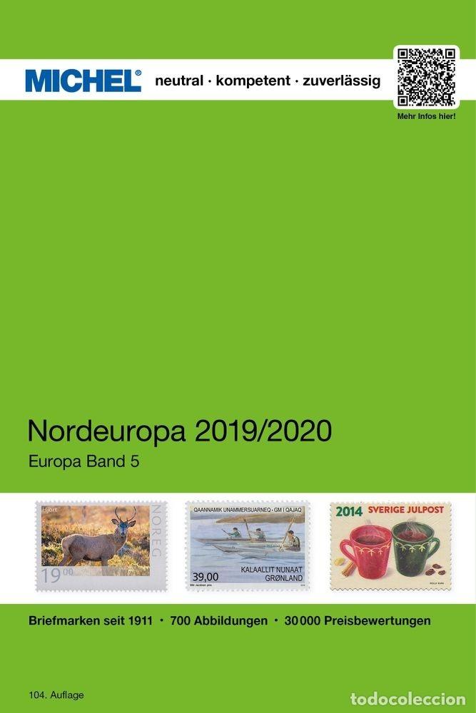 MICHEL, CATÁLOGO DE PAÍSES DE EUROPA DEL NORTE. EDICIÓN 2019/2020. (Filatelia - Sellos - Catálogos y Libros)