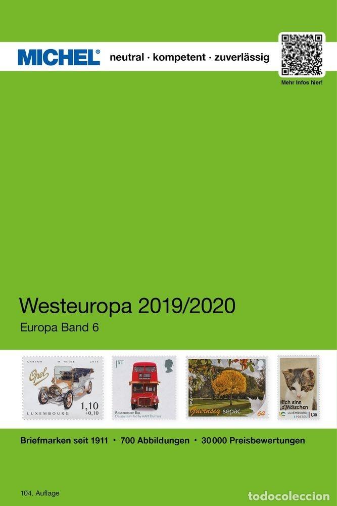 MICHEL, CATÁLOGO DE PAÍSES DE EUROPA DEL OESTE. TOMO VI. EDICIÓN 2019/2020 (Filatelia - Sellos - Catálogos y Libros)