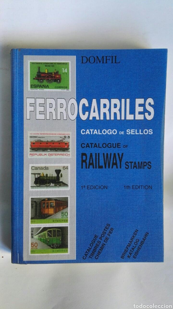DOMFIL FERROCARRILES CATÁLOGO DE SELLOS RAILWAY STAMPS (Filatelia - Sellos - Catálogos y Libros)