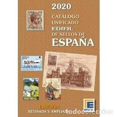Sellos: CATÁLOGO EDIFIL DE SELLOS DE ESPAÑA. EDICIÓN 2020. A COLOR. Lote 194735845