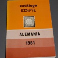 Sellos: CATALOGO EDIFIL ALEMANIA 1981. Lote 186265393