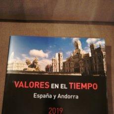 Timbres: LIBRO VALORES EN EL TIEMPO 2019 DE CORREOS. SIN SELLOS. Lote 210599652