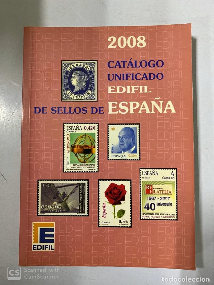 CATÁLOGO UNIFICADO DE SELLOS. EDIFIL ESPAÑA 2008. MADRID, 2007. PAGS: 303 (Filatelia - Sellos - Catálogos y Libros)