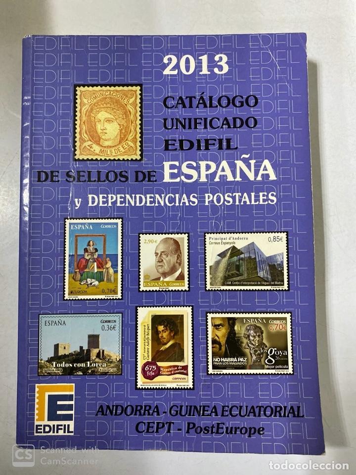 CATÁLOGO UNIFICADO DE SELLOS Y DEPENDENCIAS POSTALES. EDIFIL ESPAÑA 2013. MADRID, 2012. PAGS: 455 (Filatelia - Sellos - Catálogos y Libros)