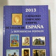 Sellos: CATÁLOGO UNIFICADO DE SELLOS Y DEPENDENCIAS POSTALES. EDIFIL ESPAÑA 2013. MADRID, 2012. PAGS: 455. Lote 205177228