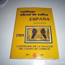 Sellos: CATALOGO OFICIAL DE SELLOS. ESPAÑA. ANDORRA. 1989. I CENTENARIO DE LA CREACIÓN DEL CUERPO DE CORREO. Lote 193313492