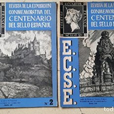 Sellos: REVISTA DE LA EXPOSICIÓN CONMEMORATIVA DEL CENTENARIO DEL SELLO ESPAÑOL NÚMEROS 1 Y 2 1950. Lote 193358746