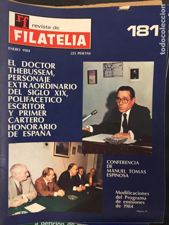 REVISTA DE FILATELIA - 181 - ENERO 1984 (Filatelia - Sellos - Catálogos y Libros)