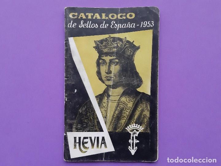 CATALOGO SELLOS ESPAÑA 1953 HEVIA (Filatelia - Sellos - Catálogos y Libros)