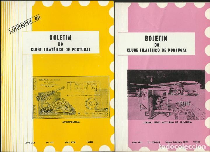 BOLETINES (42) CLUB FILATELICO DE PORTUGAL)-(1988/2001) (Filatelia - Sellos - Catálogos y Libros)