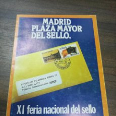 Sellos: MADRID PLAZA MAYOR DEL SELLO. XI FERIA NACIONAL DEL SELLO. 1978. PROGRAMA OFICIAL. . Lote 194752763