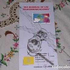 Sellos: FOLLETO EXPLICATIVO 11/93 DIA MUNDIAL DE LAS TELECOMUNICACIONES. Lote 195215278