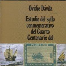 Sellos: ESTUDIO SELLO CONMEMORATIVO IV CENTENARIO DESCUBIMIENTO PUERTO RICO 1493 - 1893. Lote 195321993