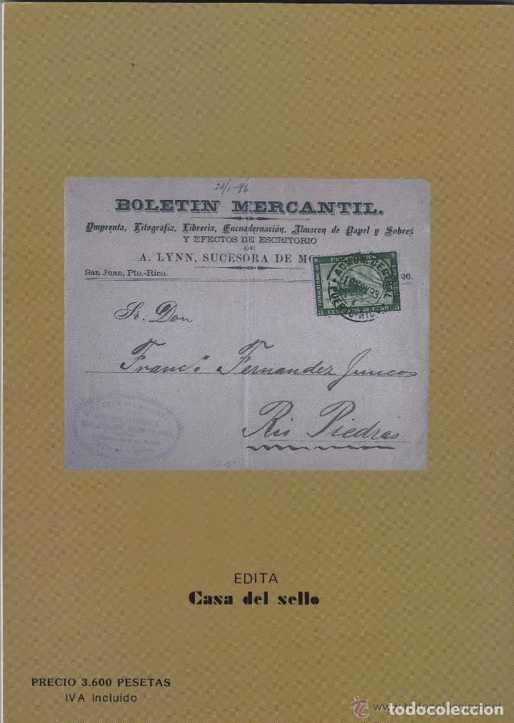 Sellos: ESTUDIO SELLO CONMEMORATIVO IV CENTENARIO DESCUBIMIENTO PUERTO RICO 1493 - 1893 - Foto 2 - 195321993