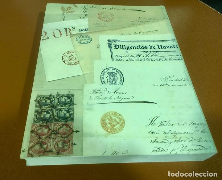 Sellos: HISTORIA DEL CORREO EN NAVARRA - ORÍGENES HASTA SIGLO XX - L. Mª Marín Arroyo - Zaragoza - 1999 - Foto 2 - 195324167