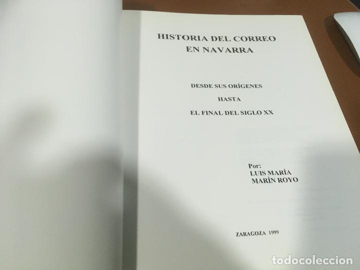 Sellos: HISTORIA DEL CORREO EN NAVARRA - ORÍGENES HASTA SIGLO XX - L. Mª Marín Arroyo - Zaragoza - 1999 - Foto 3 - 195324167